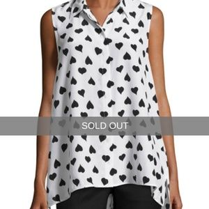 EQUIPMENT HEART PRINT BLOUSE